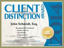 client-distinction-award-2014-john-schmidt-law.jpg