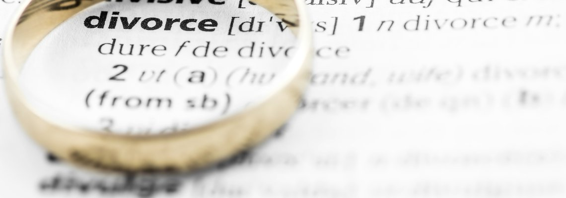 Wedding ring on the definition of divorce