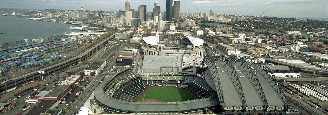 sky view of mariners stadium