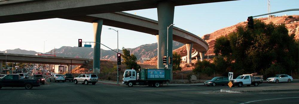 Highway under 2 overpass highways