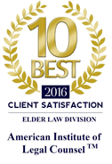 top 10 on client satisfaction badge