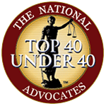 The national advocates badge for top 40 under 40
