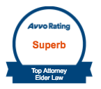 Superb rating, top elder law attorney, Avvo badge
