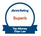 Superb rating, top elder law attorney, Avvo badge