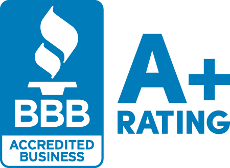 A+ BBB accredit rating badge