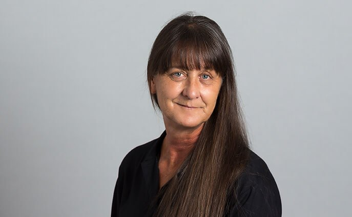 Office administrator Brenda Seeger