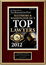 Top lawyers of 2012 plaque