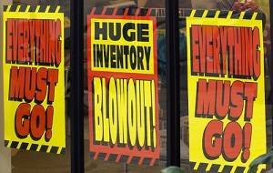 huge inventory blowout
