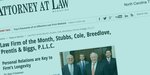 Stubbs Cole Awarded Law Firm of The Month in Newspaper Headline