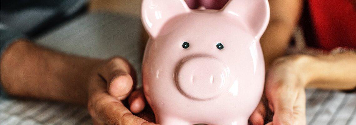 Ceramic pink piggy bank