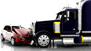 Semi Truck Hitting a Car