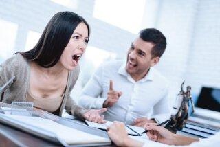 couple disagreeing
