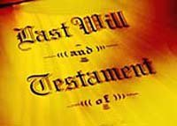document that says last will and testament