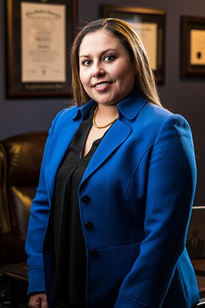 Attorney Dee Ann Torres Wearing Blue Suit