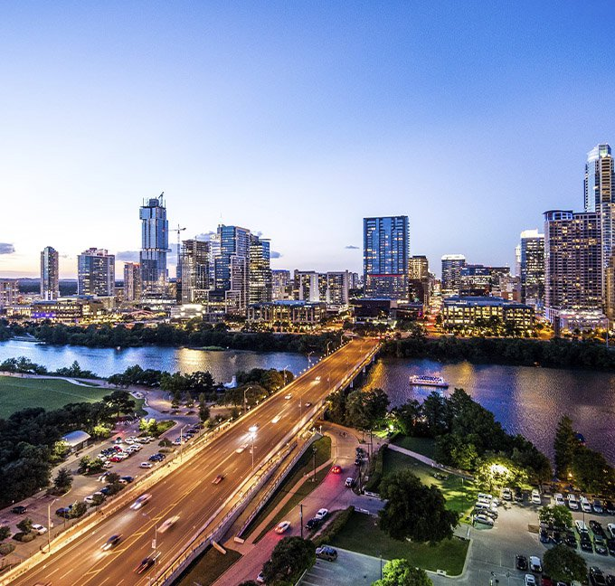 Austin Texas in the evening
