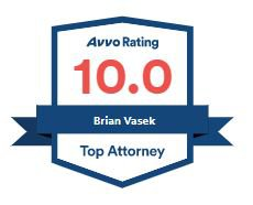 Vasek 10.0 Top Attorney Badge