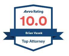 Vasek 10.0 Top Attorney Badge