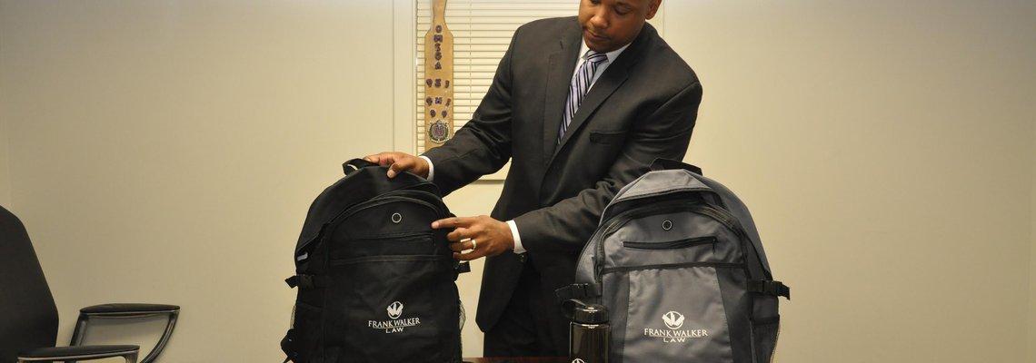 Frank Walker Law Backpack Giveaway