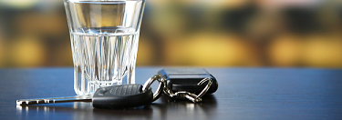 Shot glass and car keys