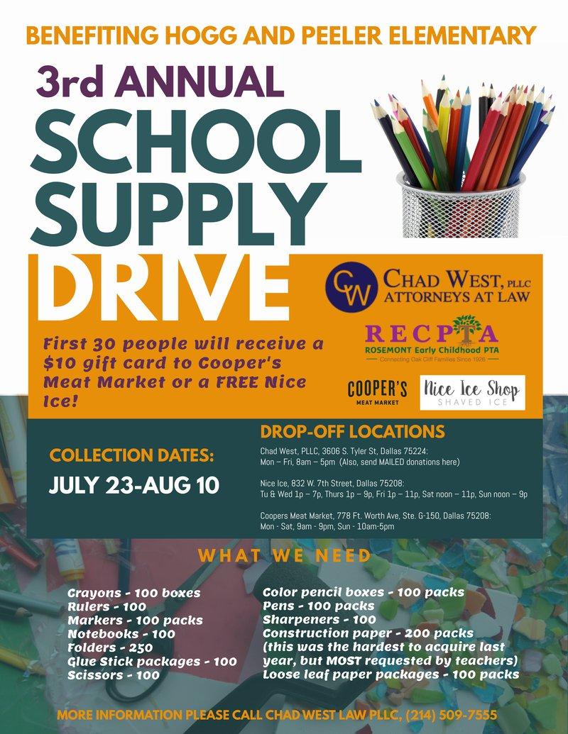School Supply Drive Flyer