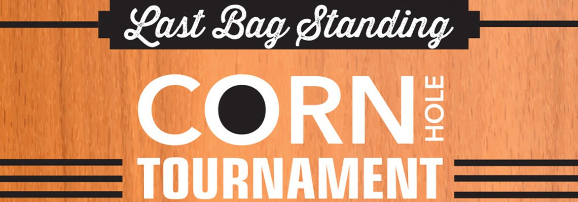 Corn Hole tournament sign