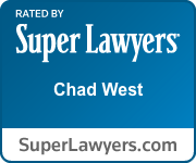 Super Lawyers - Chad West badge