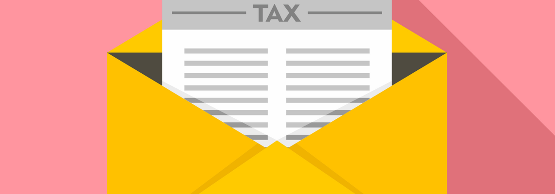 Tax in envelope icon
