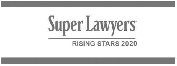 Super Lawyers Rising Star 2020 Badge