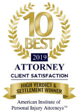 Client Satisfaction ten best attorney badge