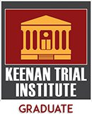 Keenan Trial Institute graduate badge