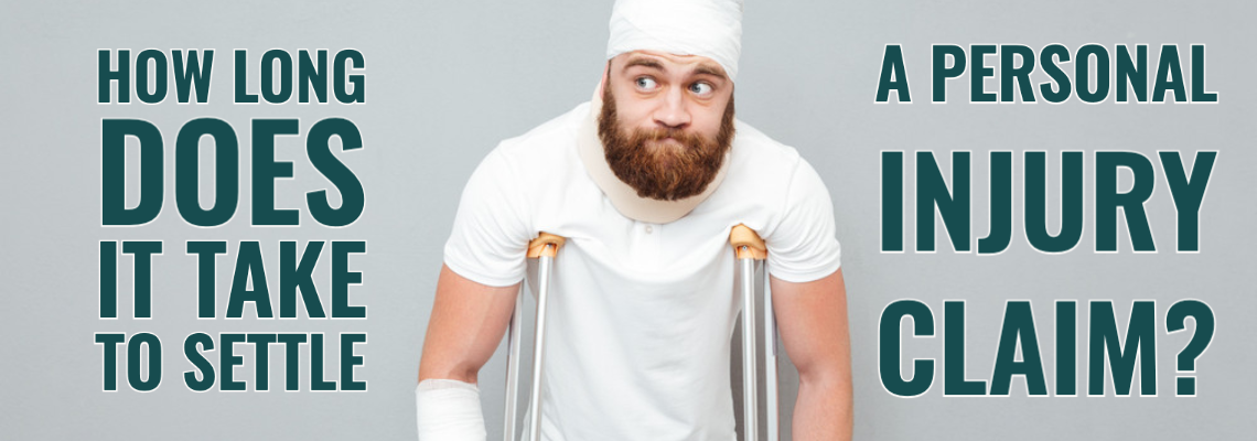 An injured man on crutches with his head wrapped in gauze