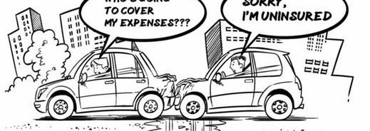 Car crash cartoon