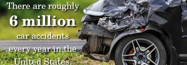 6 million car accidents per year
