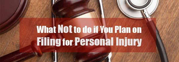 Filing for personal injury