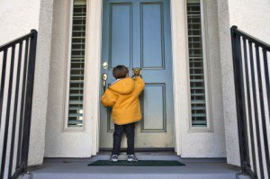 Child Knocking on Door for Legal Visitation after Divorce in Fort Laudedale