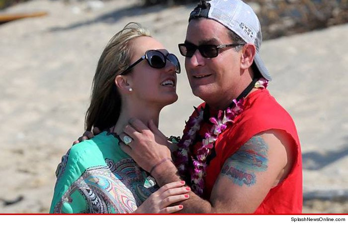 Charlie Sheen is engaged to Brett Rossi