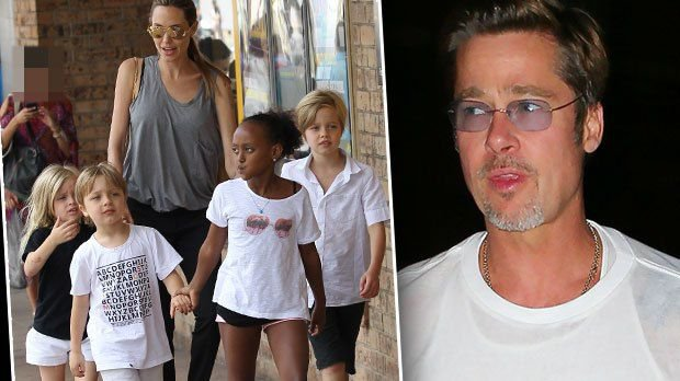 Brad Pitt Desperate to see his kids.
